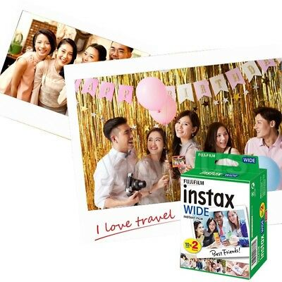 20 Sheets Fujifilm Instax Wide Film White for Wide 300, Wide 210 Instant Camera