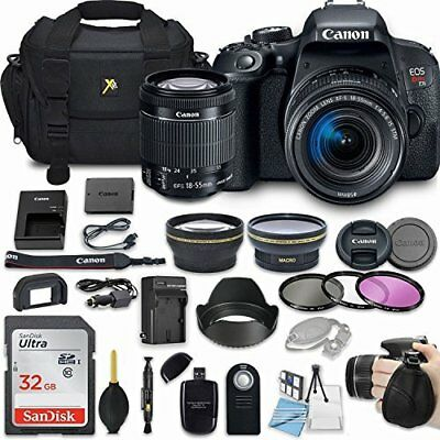 Canon EOS Rebel T7i 24.2MP Camera Bundle with EF-S 18-55mm f/4-5.6 IS STM Lens