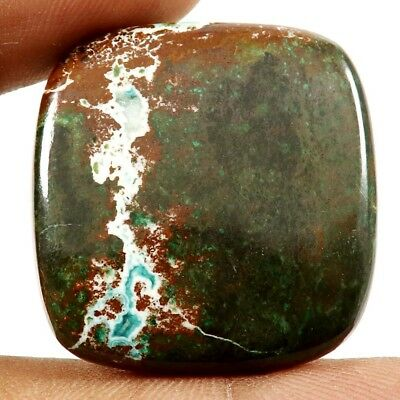 59.10ct 100%Natural Designer Chrysocolla Azurite Cushion Gemstone Loose Cabochon