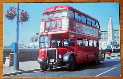 Vintage Postcard Olde English Double Deck Sight-seeing Bus B.C. Canada F324