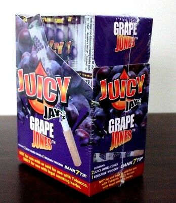 JUICY JAY'S JONES PRE-ROLLED CONES 24 PACK~Grape~FULL BOX~SEALED