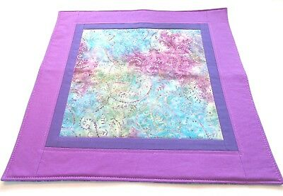 Beltane altar cloth handmade quilted turquoise purple pink green batik paisley