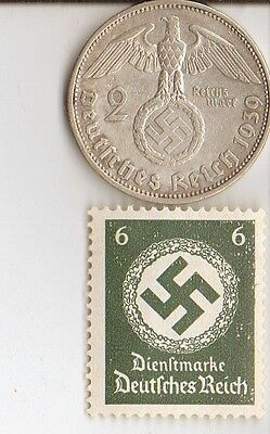 *micro WWII - Colection of  - *WW2 - *german SILVER  EAGLE coin /stamps ++...