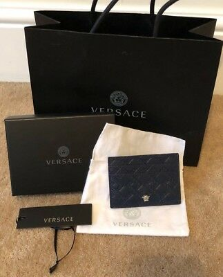 baf9daf241 VGC MENS VERSACE Greca Argyle Medusa Card Holder