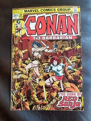 Conan the Barbarian 24 1st Full Appearance of Red Sonja FN/VF Condition