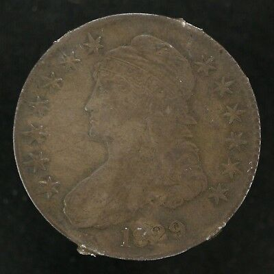 1829 Capped Bust Half Dollar 50C Details Vf Very Fine (5641)