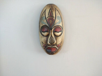Hand Crafted Wood Decorative Wall Hanging Mask Gringo Mask