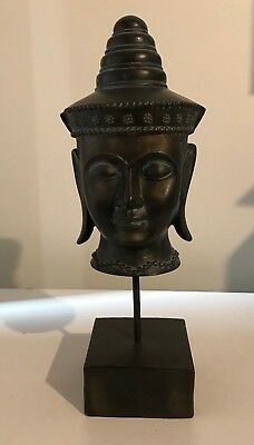 Thai / Chinese Buddhist Head Sculpture 17.5 inches Tall