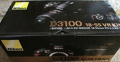 Nikon D D3100 DSLR 14.2MP Digital SLR Camera  Black 18 - 55 3.5 - 5.6 Lens