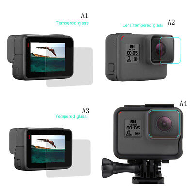 For Gopro Hero 6/5 Screen Protector / Lens Protect 9H Hardness Tempered Glass TC