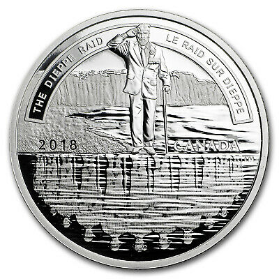 2018 Canada Silver $20 A Nation's Mettle: The Dieppe Raid - SKU#172273