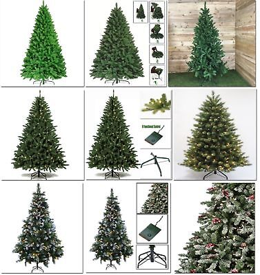 Premium Luxury Colorado Pre-Lit Frosted Christmas Spruce Artifical Pine XmasTree
