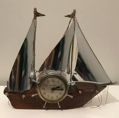 Vintage Master Crafters Sailing Ship Mantle Clock, the Flying Cloud