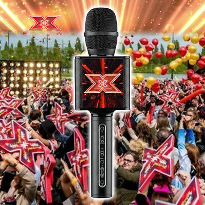Echo Function Led Lights X Factor Karaoke Official Microphone Speaker Bluetooth