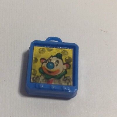 "FLICKER Circus Clown Cracker Jack GUMBALL CHARM PRIZE TOY ""MY OWN TV"" Blue"