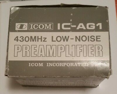 ICOM IC-AG1 LOW NOISE 430 Mhz PREAMPLIFIER New in Box!