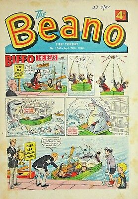 BEANO - 28th SEPTEMBER 1968 - THE LAST PUPPET FEATURE !! 50th BIRTHDAY GIFT !!