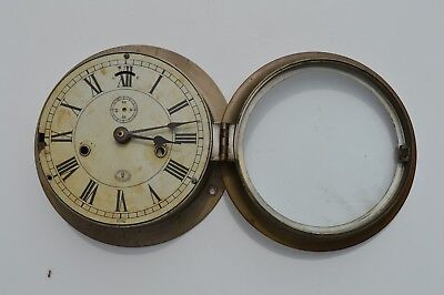 Early Antique American Schaffer & Budenberg Ships Clock Case Only As Found