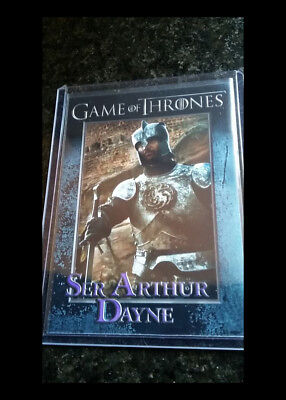 Ser Arthur Dayne Luke Roberts  - Game of Thrones Season 6 Promo Card #S1