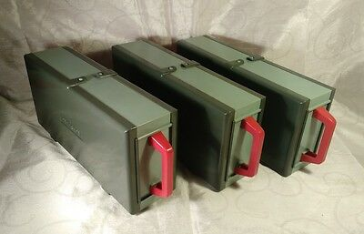 Vintage Paterson 50 Slide Storage boxes x 3