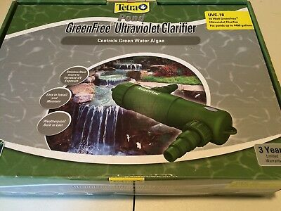 New Tetra Pond 18 Watt Uv Clarifier Green Free Uvc 18