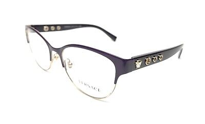 9a1c50b453f New Versace Ve1237 1383 53Mm Purple gold Eyeglasses Authentic Italy Rx-Able