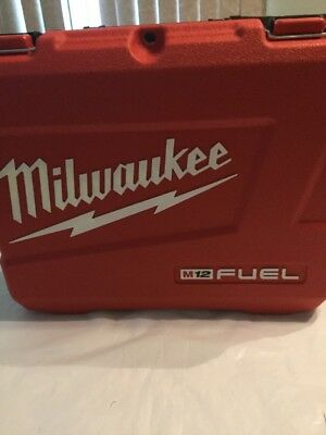 Milwaukee M12 Fuel Drill Tool Box Carry Case  For impact 2553-20 hard case EMPTY