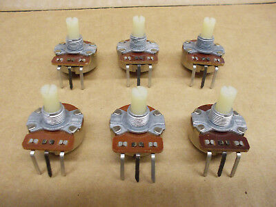 50K ohm CTS Linear Taper pot B50K, NOS 1986, Lot of 6 ships free from Ohio