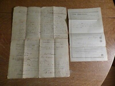 Two Illinois Indenture  Documents 1850s