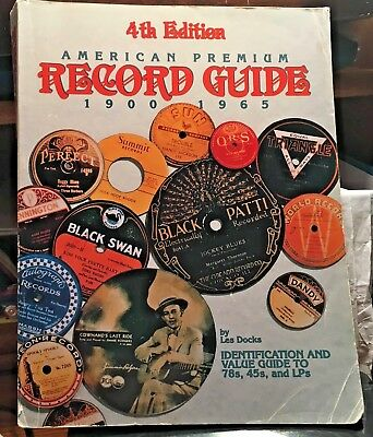 (RB-64) 4th Ed.American Premium Record Guide 1900-1965 Book by Les Docks