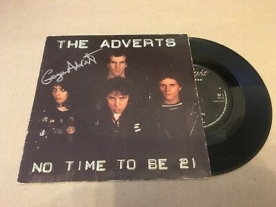 The Adverts  -  No Time 21  Signed  Gaye Advert -  7 Inch Ps -   Punk  - Uacc