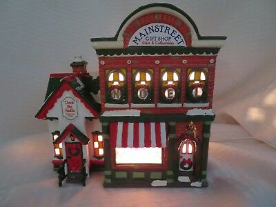 "Dept 56 Snow Village ""mainstreet Gift Shop"" With Light - Retired"