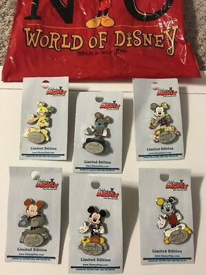 Disney Pin Set Lot Celebrate Mickey Mouse Statue NYC LE 500 New York WOD 2005