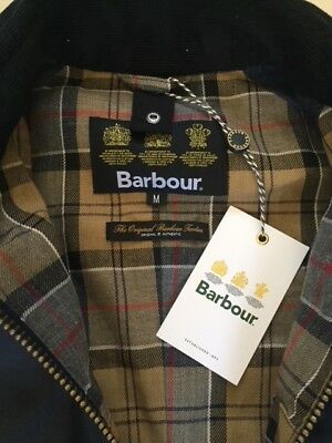 Men's Barbour Ashby Wax Jacket Size M (Navy) - New With Tags