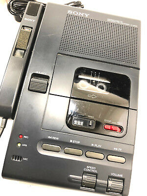 Original Sony M-2020 Microcassette Dictator Transcriber w/ Receiver