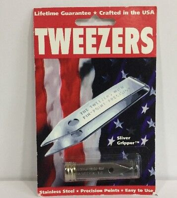 Uncle Bill`s 19074 Sliver Gripper Tweezers , New, Free Shipping