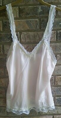 Christian Dior Pale Pink Lace Cami Lingerie Camisole Small S
