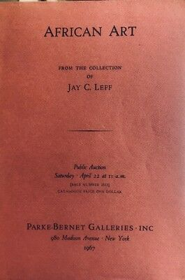 Parke-Bernet African Art Jay Leff  Collection 4/22/67  HJ8