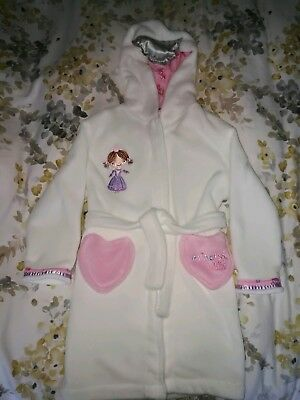 BHS girls princess dressing gown white age 5yrs