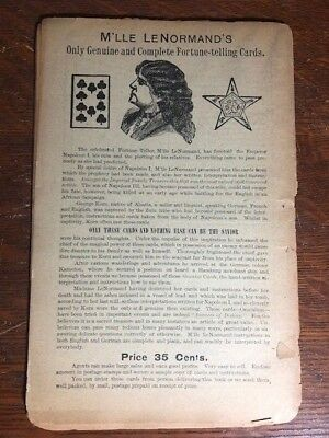 Mlle Lenormand Vintage Antique Fortune Telling Tarot Cards Advertising