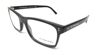 a441140ee939 New Burberry Be2222 3594 55Mm Shiny matte Black Eyeglasses Authentic Italy