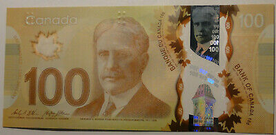 Gem UNC Canada $100 polymer paper money Bank Notes Consecutive SNs