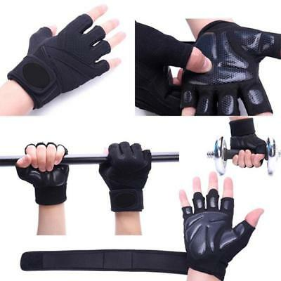 Gym Gloves Weight Lifting Fitness Bodybuilding Strength Training Wrist_Leather