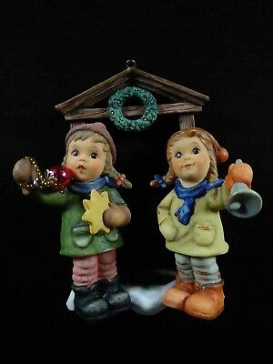 Hummel Ornament Children with Bell and Bauble