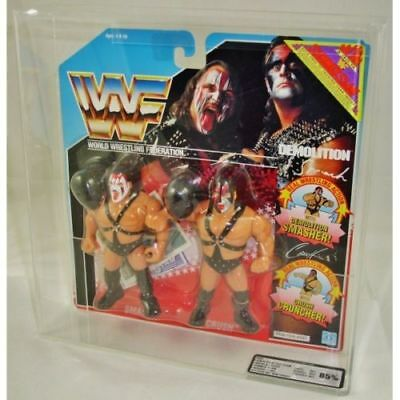 Bespoke Acrylic Display Case For Vintage MOC Carded WWF Tag Team Figures
