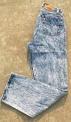 Vintage Levi's 501 Jeans Acid Wash 30 30 Measure 28 1/2 X 30 Made In USA