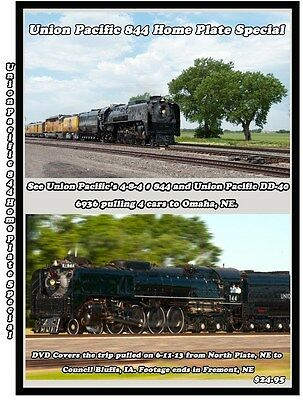 Union Pacific 844 UP 844 Home Plate Special Railroad Train DVD Please Read