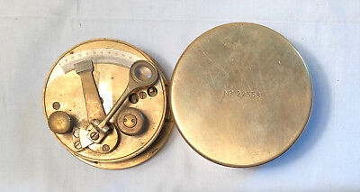 Antique Cased Brass Drum Pocket Sextant No 22558
