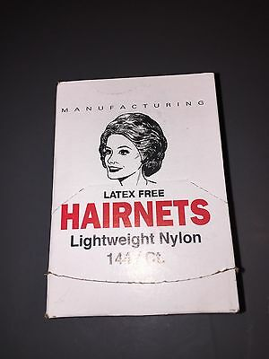 Cellucap White Lightweight Nylon Hairnets Hair nets - 144 per box (2 Boxes )