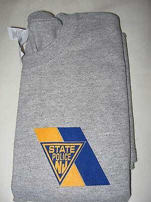 New Jersey State Police Gray Tee Shirt - L/s - Size -  Large